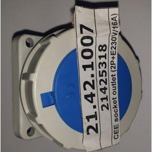 CEE socket outlet (2P+E 230V/16A