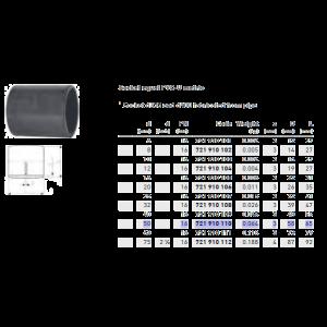 Socket Equal PVC PN16 d50