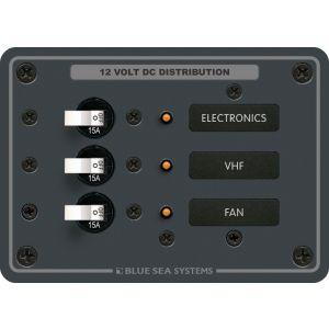 Panel DC 3 circuit breaker