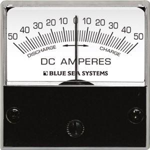 Ammeter Micro 50-0-50A DC 8POS Hor