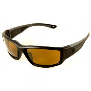 Sunglass FLOATER Black frame, Amber lens polarized 1.1mm acetate
